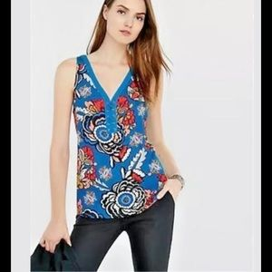 Womens Express Bold Floral Lace Sleeveless Top S